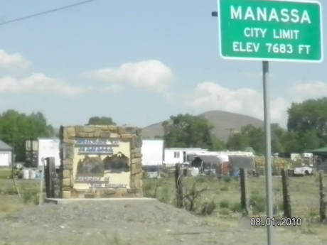 Town of  Manassa, Co   2012